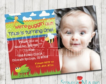 Buggin Out Birthday Invitation with Photo