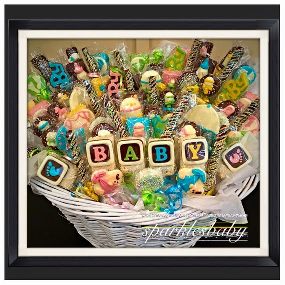 Baby baby shower chocolate basket commack or carle place negle Image collections