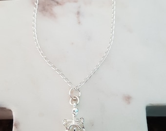 Sterling Silver Skeleton Necklace