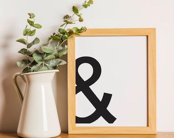 Printable Modern Office/ Cubicle Art Giant Ampersand