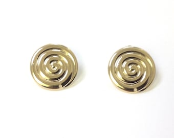 Spiral earring post. 18/20 Goldfilled earring.  Round earring post