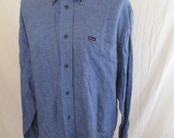 Linen shapeable Blue Size XL shirt by-68%