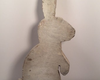 Wooden garden ornament Rabbitt