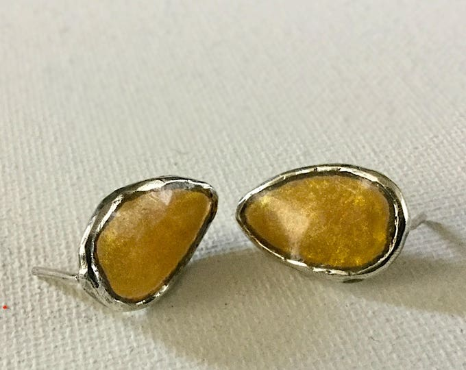 Sterling Studs with Solar Resin