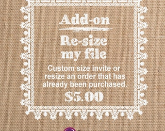 Re-size My Invitation <Add-on Item>