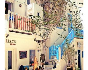 Photography, Mykonos, Greece Islands, Mediterranean Sea, Summer, Wall Art, Modern Home Decor, Travel Photo,Mykonos Town, Streets of Mykons