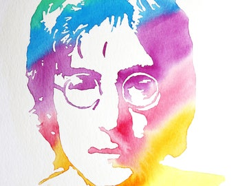 John Lennon Watercolor Painting