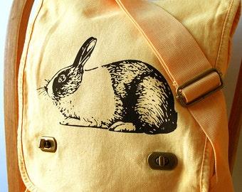 Rabbit Canvas Messenger Bag Laptop Bag