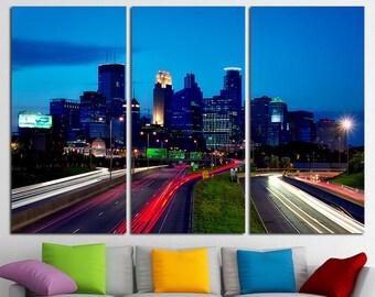 Minneapolis Canvas Set Minneapolis City Minneapolis Skyline Minneapolis Print Minneapolis Photo Minneapolis Poster Minneapolis Wall Art