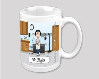 Personalized Cartoon Print - 11 oz Mug -  Doctor / Nurse practitioner / Physician Assistant / Nurse