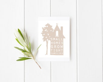 Small Homes Print | Home Decor