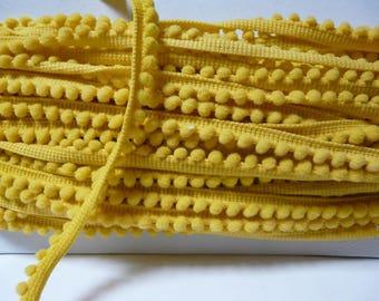 Ribbon 6 mm yellow Pompom trim