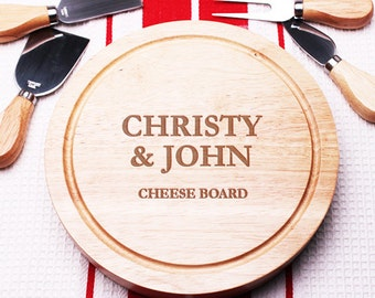 Elegant Personalized 5 pc. Gourmet Cheese Board Set (MICFJM4989968-K)