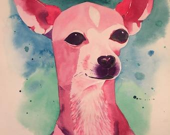 "16"" x 20"" Custom Watercolor Portrait"