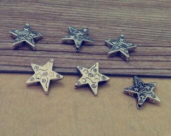 20pcs Antique Silver pentagram pendant charm 15mm