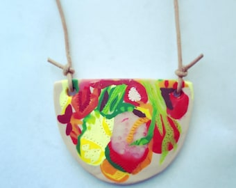 Wearable art pendant