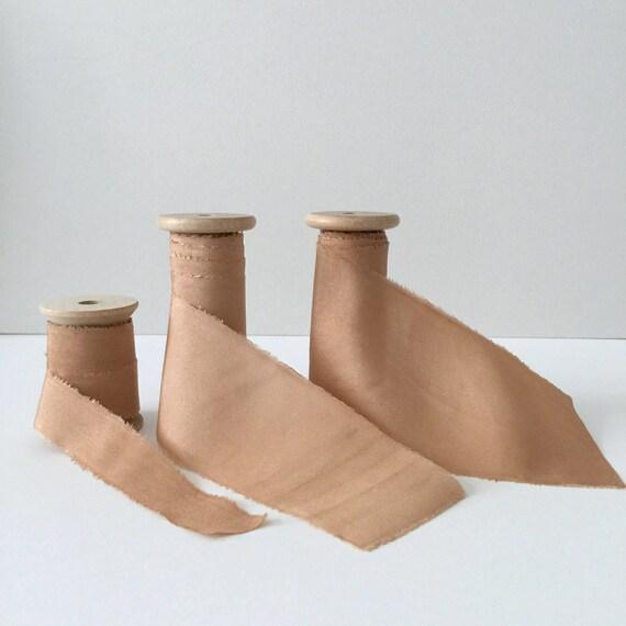 TERRACOTTA Plant Dyed Silk Ribbon