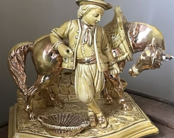 Rare Eichwald Man With Horse Pipe/Cigar Holder And Match Striker
