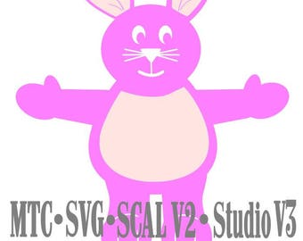 SVG Cut File Treat Holder Bunny Easter Holiday Birthday Cricut Cameo SCAL MTC Cutting File Die Cut