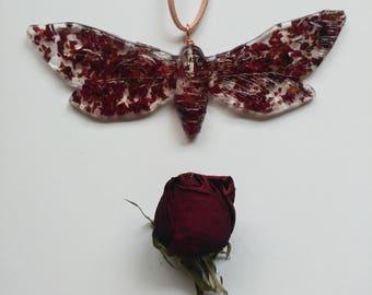 Resin Death's-Head Moth Necklace