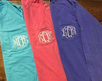 Comfort Color Long Sleeve Pocket shirts