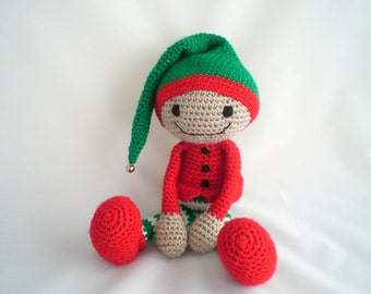 Crochet Elf / Christmas Elf / Amigurumi Elf / Plush Elf Toy / Santa's Helper / Christmas Elf Plush Toy / Christmas Elf Toy / Plush Toy
