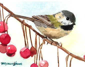 ACEO Limited Edition - Lovely Chickadee
