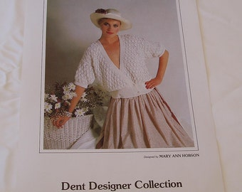 DENT Designer Collection Knitting Pattern 8409 by Mary Ann Hobson Double Breasted Cardigan Artiwool