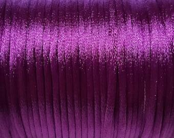Purple 2mm Satin cord (5 m)