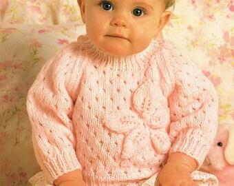 lacy sweater dk knitting pattern 99p