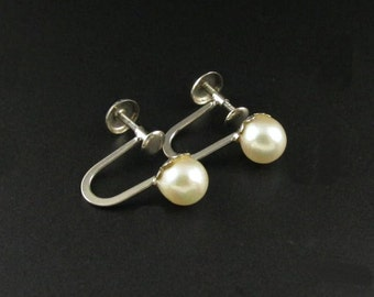 10K Gold Pearl Earrings, 10K Gold Earrings, Genuine Pearl Earrings, Small Pearl Earrings, Pearl Stud Earrings, Real Pearl Earrings