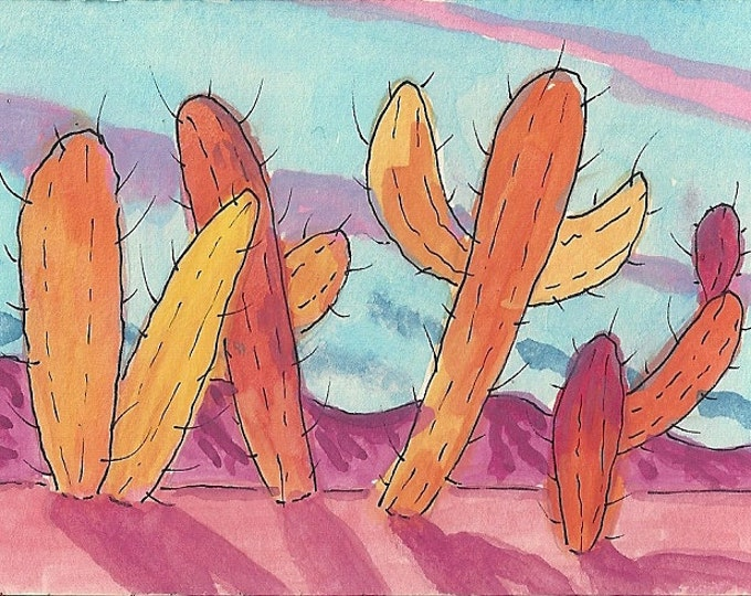 Autumn in the desert greeting card