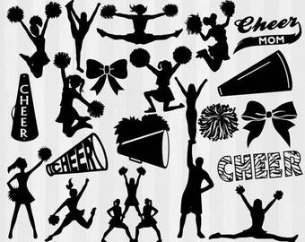Cheerleader svg, Cheer svg, Cheerleading svg, Cheer svg files SVG, DXF,