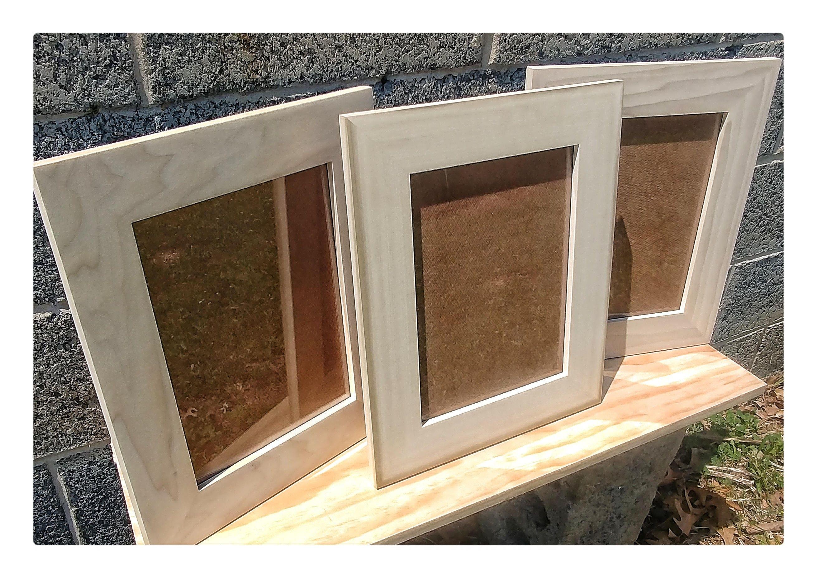 Marcos de 9 x 12 Hardware y vidrio madera para marcos