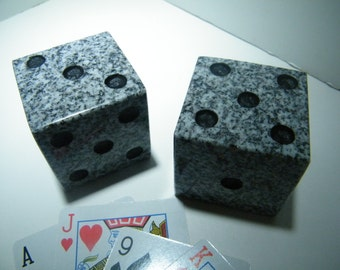 Dice, Stone Dice/Dice Decoration/ Granite Dice Deco/ Stone Art