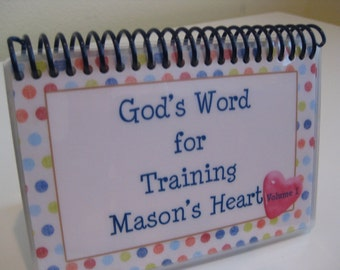 God's Word for Training Your Child's Heart - Volume 1, PERSONALIZED Set, Spiral-Bound Laminated Bible Verse Cards