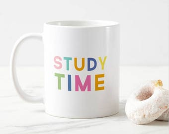 Study time - studying mug - college - student - medicine - grad - university - student present - gift