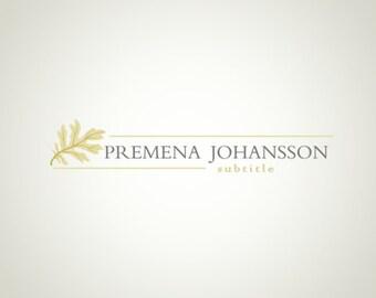 Premade Logo Design and Watermark Leaf logo Cute logo