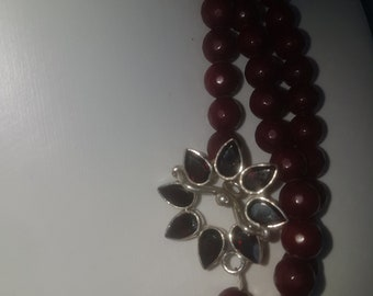 Jade and Chrystal necklace
