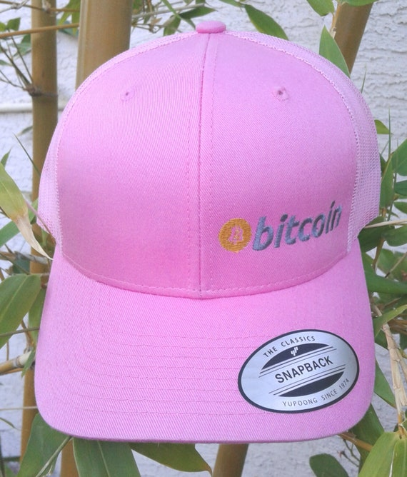 c2f89f2795b Bitcoin Pink   Pink Mesh BTC Blockchain Cryptocurrency 6 Panel