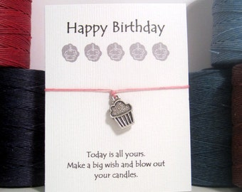 Happy Birthday Cupcake  Wish Bracelet