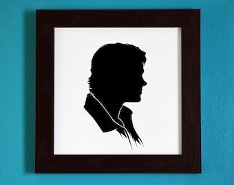 Supernatural - Sam Winchester - Silhouette Portrait Print
