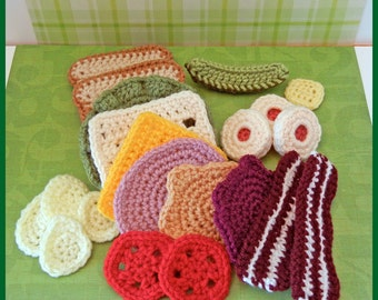 Crochet Pattern: Crochet Food, Let's Do Lunch