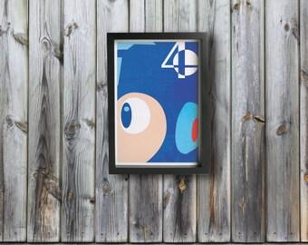MEGA MAN poster - Inspired by Super Smash Bros.