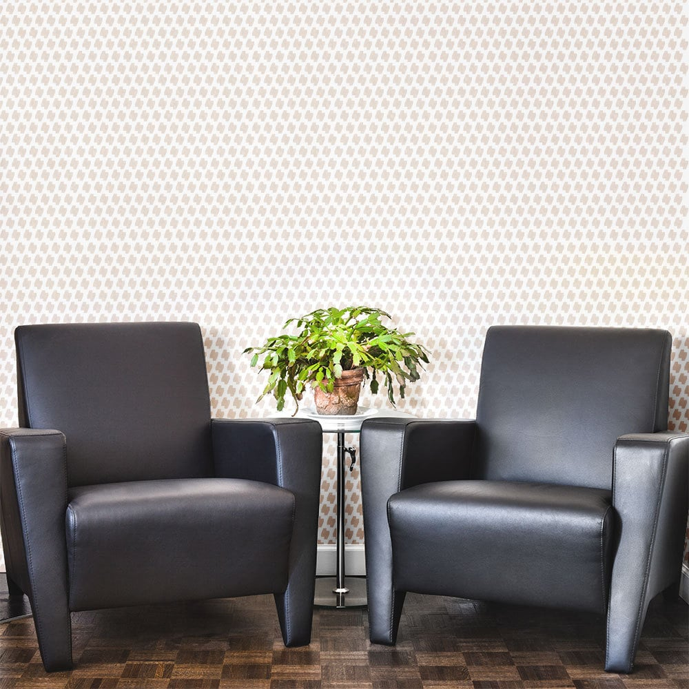 Ascot Houndstooth Wall And Floor Stencil