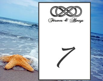 Infinity Table Number, Printable Wedding Table Numbers, Infinity Wedding Table Numbers Instant Download, Banquet, Events, Receptions