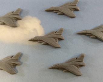 Fondant Jets-Fondant Fighter Jets-Airforce Jets-Military Jets-Airplanes-Fondant Cupcake Toppers