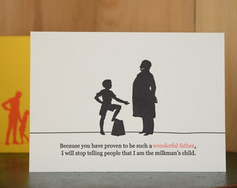 Milkman - letterpress Father's Day card