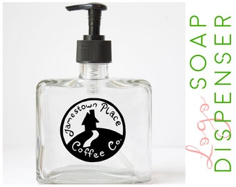 Custom Logo Soap Dispenser - Logo Design Suspended Inside Soap Pump