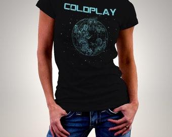 Coldplay A sky full of stars Black Woman Printed T-shirt